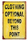 Ohio Wholesale, Inc. Clothing Optional Tin Sign