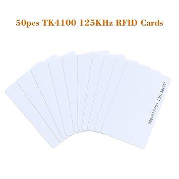 KKmoon TK4100 - Paquete 50 RFID Tarjeta de Proximidad 125KHz PVC Control de Puerta Entrada Acceso EM card-0,9 mm para Oficina
