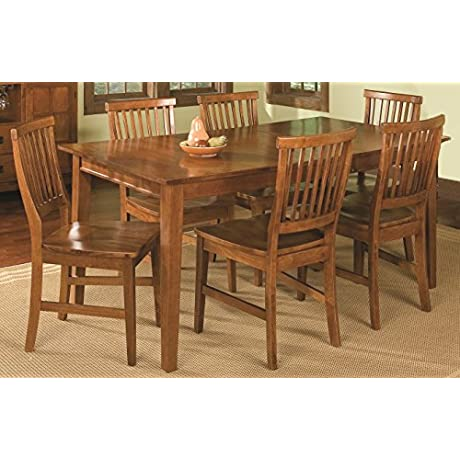 Home Style 5180 319 Arts And Crafts 7 Piece Rectangular Dining Set Cottage Oak Finish