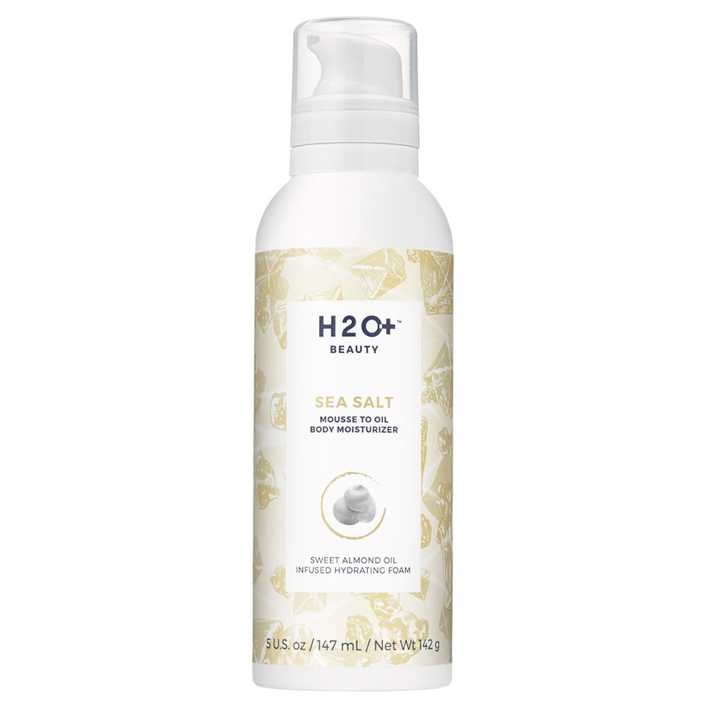 H2O+ Beauty Mousse to Oil Body Moisturizer Whipped Hydrating Foam, Sea Salt, 5 Ounce by H2O+ Beauty