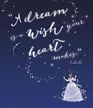 Image result for a dream is a wish your heart makes card