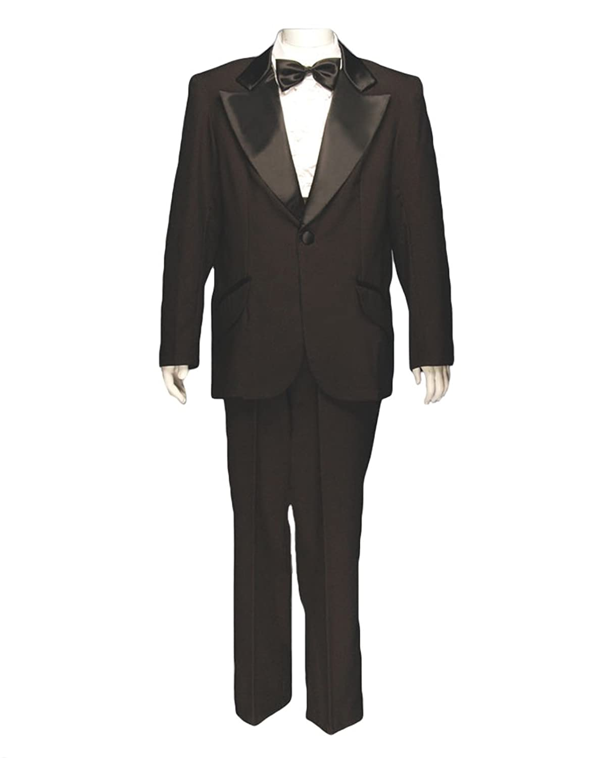 New Vintage Tuxedos, Tailcoats, Morning Suits, Dinner Jackets Mens Formal Adult Deluxe Tuxedo w/o Shirt Black  AT vintagedancer.com