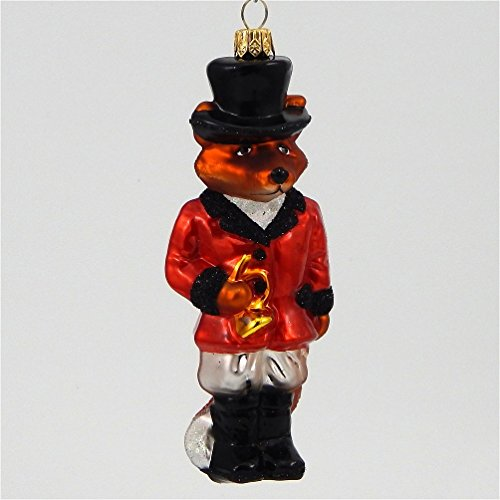 Sir Fox Hunter- Polish Blown Glass Ornament