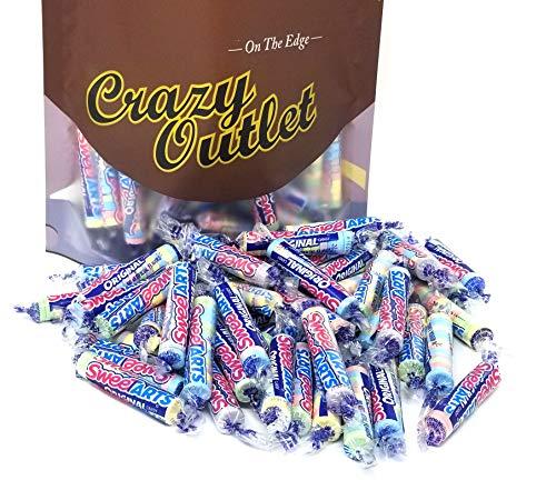 CrazyOutlet Pack - Wonka SweeTarts Original Mini Rolls Candy, Assorted Flavors SweeTarts Twist Wrap, Twist Wrap Party Candy, Bulk Pack, 2 Lbs