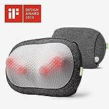 Mynt Cordless Pillow Massager with Heat, Portable 3D Deep Kneading for Neck Back, iF Design Award Winner Massager With 2600mAh Battery