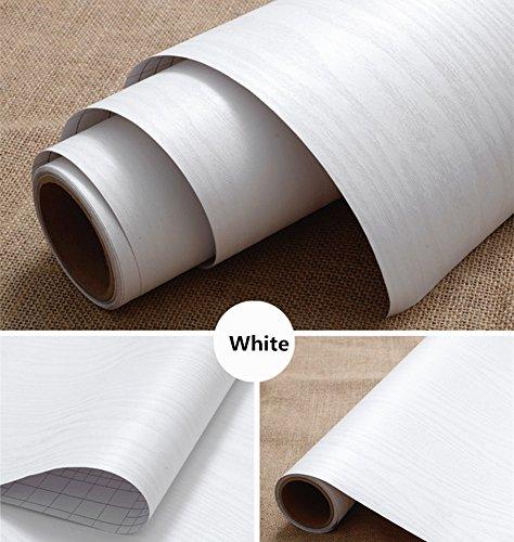 Moyishi Self Adhesive white wood grain furniture stickers PVC wallpaper cabinets Gloss Film Vinyl Counter Top Decal 24''x79'' by Moyishi (Image #7)