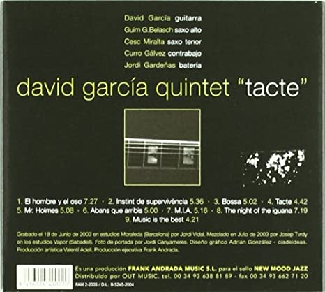 Tacte: David Garcia Quintet: Amazon.es: Música