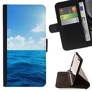 Momo Phone Case / Flip Funda de Cuero Case Cover - Sun Sea verano azul cielo Nubes - Apple Iphone 5C