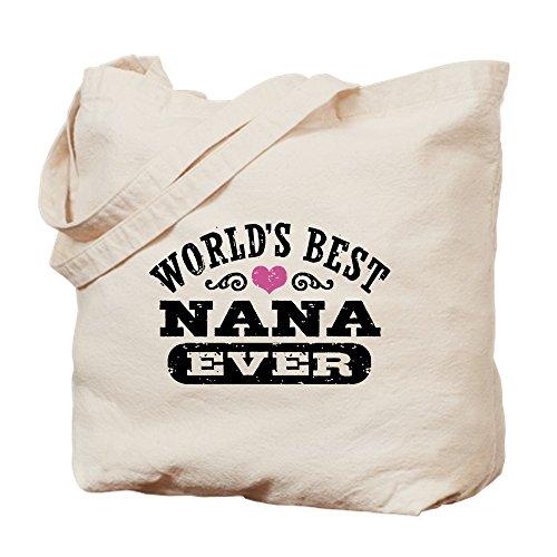 CafePress–mejor Nana del mundo nunca–Gamuza de bolsa de lona bolsa, bolsa de la compra Small caqui