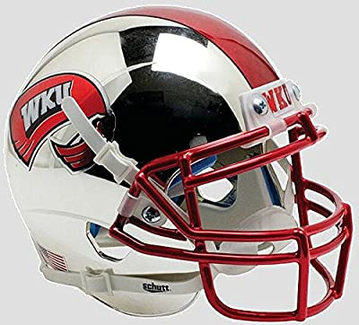 Western Kentucky Hilltoppers Authentic College XP Football Helmet Schutt Chrome with 2 Tone Decal - Licensed NCAA Merchandise