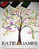 20X24 Wedding Fingerprint Guest Book Tree, Thumbprint Tree Guest Book, Tree stamp Poster