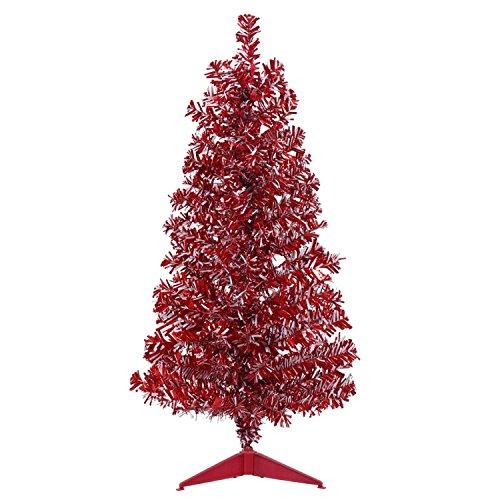 Vickerman B152130 Unlit Flocked Pink Pencil Fir Artificial Christmas Tree, 6.5' x 27