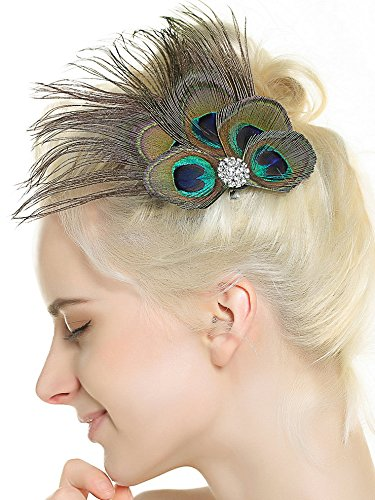 Amazon.com   Nero Women s Handmade Peacock Feather Fascinator Headpiece 3431f37011c