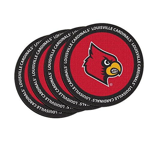 NCAA Louisville Cardinals Neoprene Ring of Honor Coasters, Set of