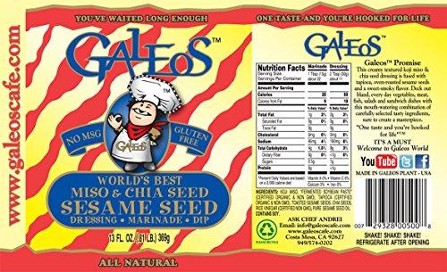 Galeos Miso Sesame Dressing, 13 Oz (Pack of 6) by GALEOS (Image #1)'
