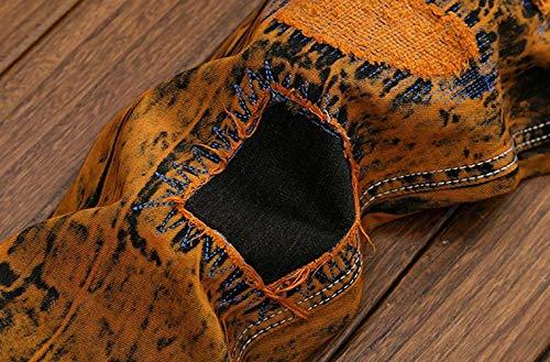 Retrobrown Vita Uomo Retro Bolawoo Elasticizzati A Mode Skinny Denim Pantaloni Senza Strappati Bassa Casual Jeans Di Cinturino Da Marca qBxURFpw