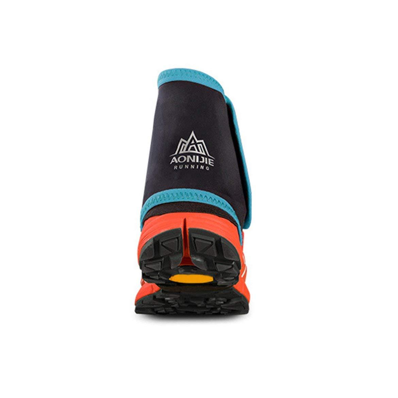 Bleu Noir JohnJohnsen en Plein air Unisexe Haut Trail r/éfl/échissant gu/êtres de Protection sandproof Couvre-Chaussures pour la Course de Jogging Marathon Randonn/ée