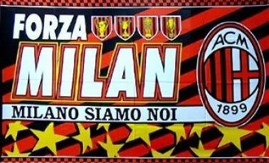 Ac Milan Flag - AC Milan Crest Flag