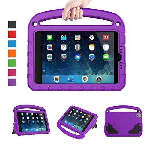 LTROP Universal Case for iPad Mini 1 2 3 4 5 - Light Weight Shock Proof Handle Friendly Convertible Stand Kids Case for iPad Mini 5th/ 4th/ 3rd/ 2nd/ 1st Generation - Purple (Generation Case Mini First Ipad)