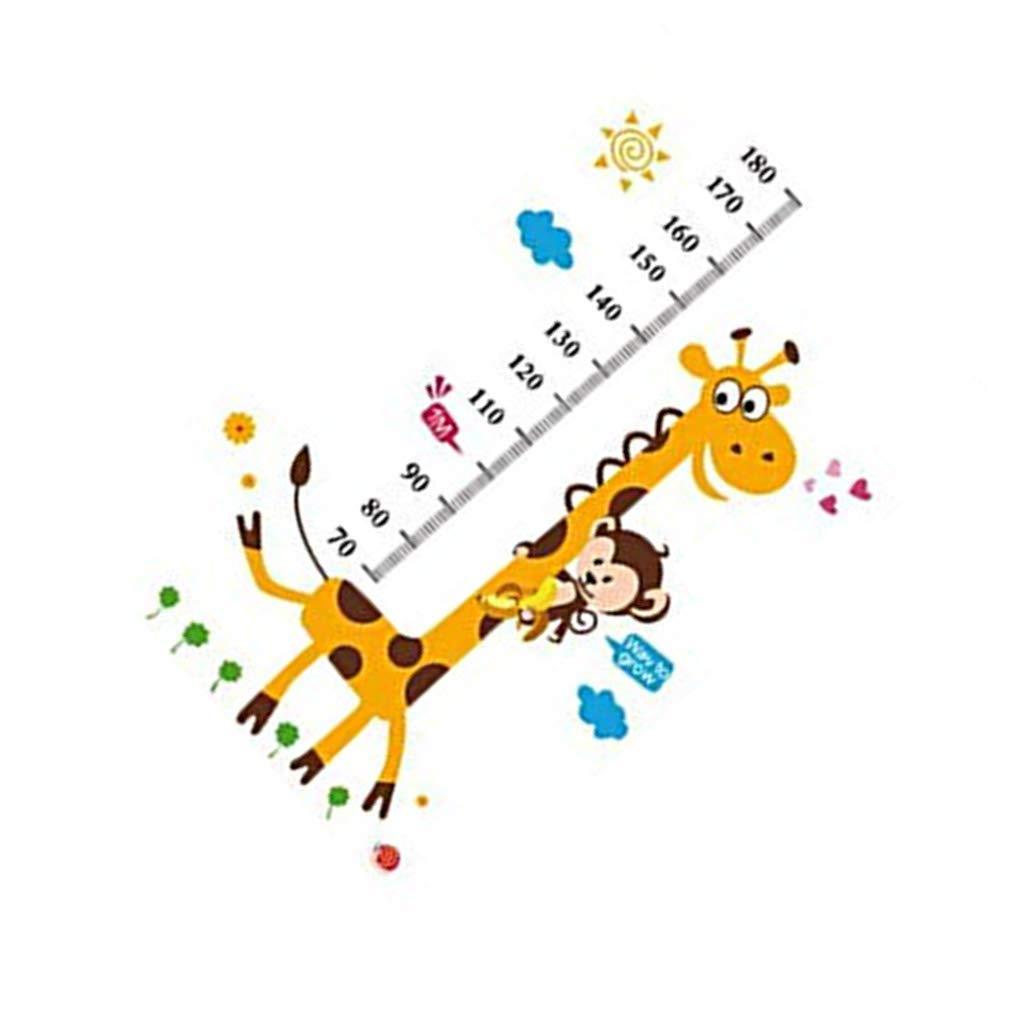Vektenxi Removable Cartoon Giraffe Wallpaper Self Adhesive Mural Decal Art Wall Sticker Baby Bedroom Decor Durable and Practical