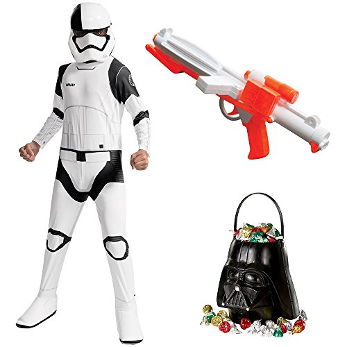 Star Wars Ep VIII: The Last Jedi - Child Executioner Trooper Costume with Blaster and Candy Pail - Small ()