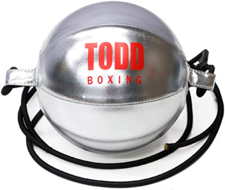 Weisheng Boxing Speed Ball Double End Speed Bag Leather Boxing Training Speed Punching Bag (Silver) : Sports & Outdoors