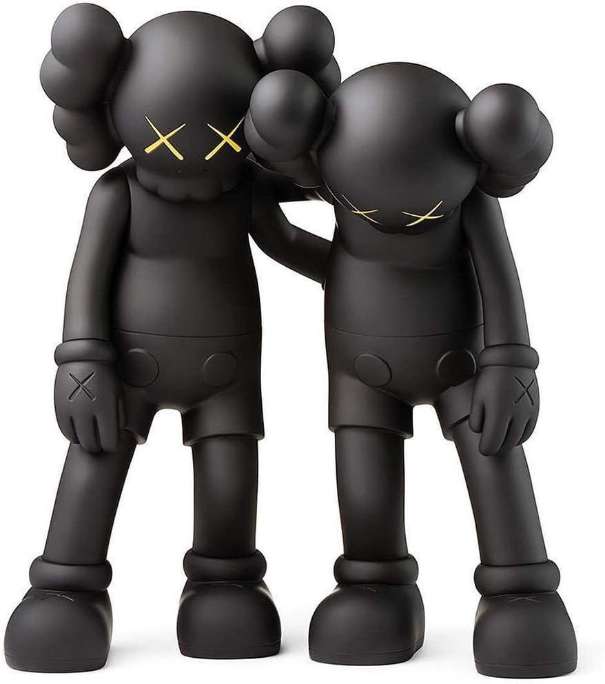 QYF KAWS Acción muñeca figura Pack de 2, articulación móvil, la postura de pie, 28cm (11inchs), compañero de PVC KW original Juguetes Muñecas Arte Adornos, Decoración Inicio Alquiler estatua colección