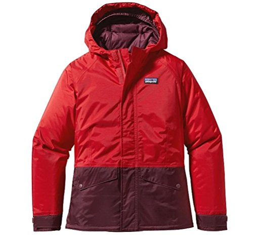 Patagonia Girl's Insulated Torrentshell Jacket Red Medium (Size 10)