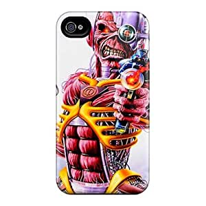 Iphone 4/4s TwM1995cZHf Customized High-definition Iron Maiden Band Image Scratch Resistant Hard Phone Cover -JamieBratt