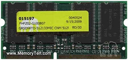 512MB 144-PIN PC133 CL3 Non-ECC Unbuffered SDRAM for Laptop