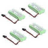 MegaPower (TM) 4x 2.4v 800mAh Home Phone Battery for Uniden BT-1021 BT-1025 BT-1008S BT-1008