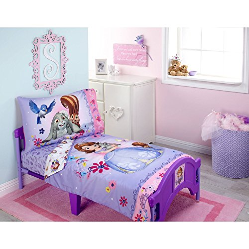 (Sofia Friends are Magic 4-Piece Toddler Bedding Set)
