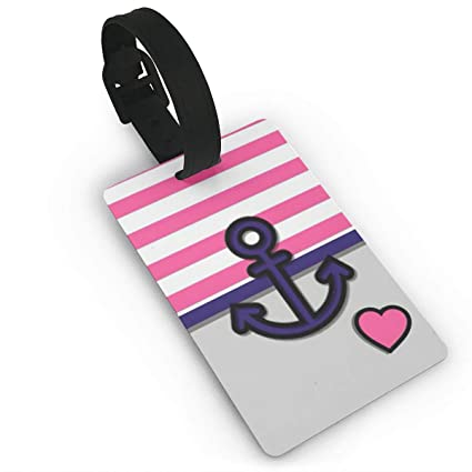 f5ad9ab96a55 Amazon.com: ZP-CCYF Anchor and Heart Cute Luggage Tags Travel Tags ...