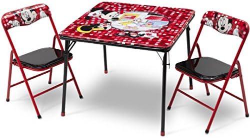 Diseño de Minnie Mouse infantil de mesa plegable silla plegable ...