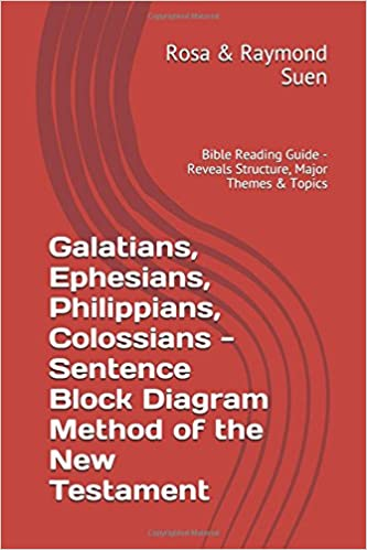 galatians, ephesians, philippians, colossians - sentence block diagram  method of the new testament: bible reading guide - reveals structure, major  themes