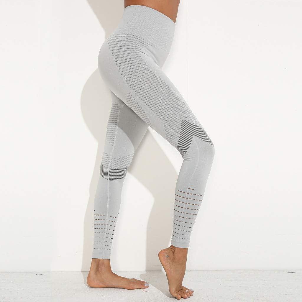 Thatso Women High Waist Seamless Yoga Pants Tummy Control Workout Leggings Running Tights
