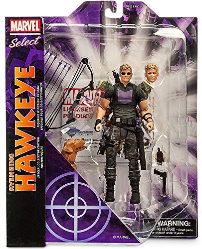 "Marvel Disney Select Avenging Hawkeye 7"" Action Figure"
