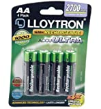 Lloytron AA 2700 mAh NIMH AccuUltra Battery (Pack of 4)
