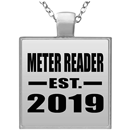 Meter Reader Established EST. 2019 - Square Necklace Collar ...