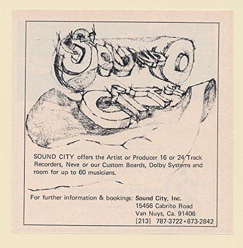 1973 Sound City Inc Recording Studio Van Nuys Ca Trade Print Ad 65176