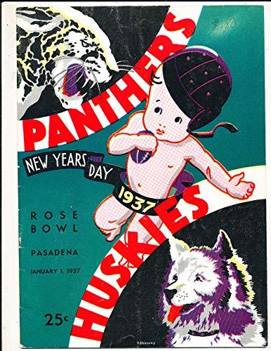 (1937 Rose Bowl Football Program Pittsburgh vs Washington)