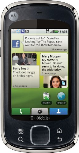 Motorola CLIQ XT, Black (T-Mobile) (T-mobile Myfaves Cell Phone)