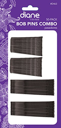 Jumbo Black Hair Pin - Diane Combo Bob Pins, Black, 50 count