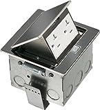 Arlington FLBT4400BL-1 Countertop Trapdoor Cover Box Kit, Black, 1-Pack