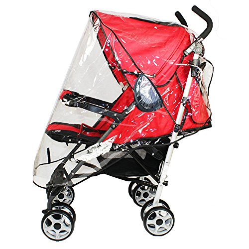 Stroller Rain Cover, V-Fyee Universal Waterproof Wind Dust Shield Cover for Baby Strollers - Clear