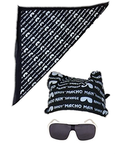 Macho Man Randy Savage Colored Costume Glasses Bandana-Black Macho Man Wrestling