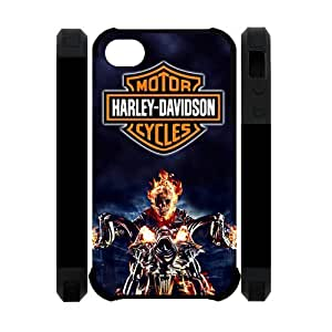 Harley Davidson Iphone 4 4S Dual-Protect Cover Case Ghost Rider Nicolas Cage Case