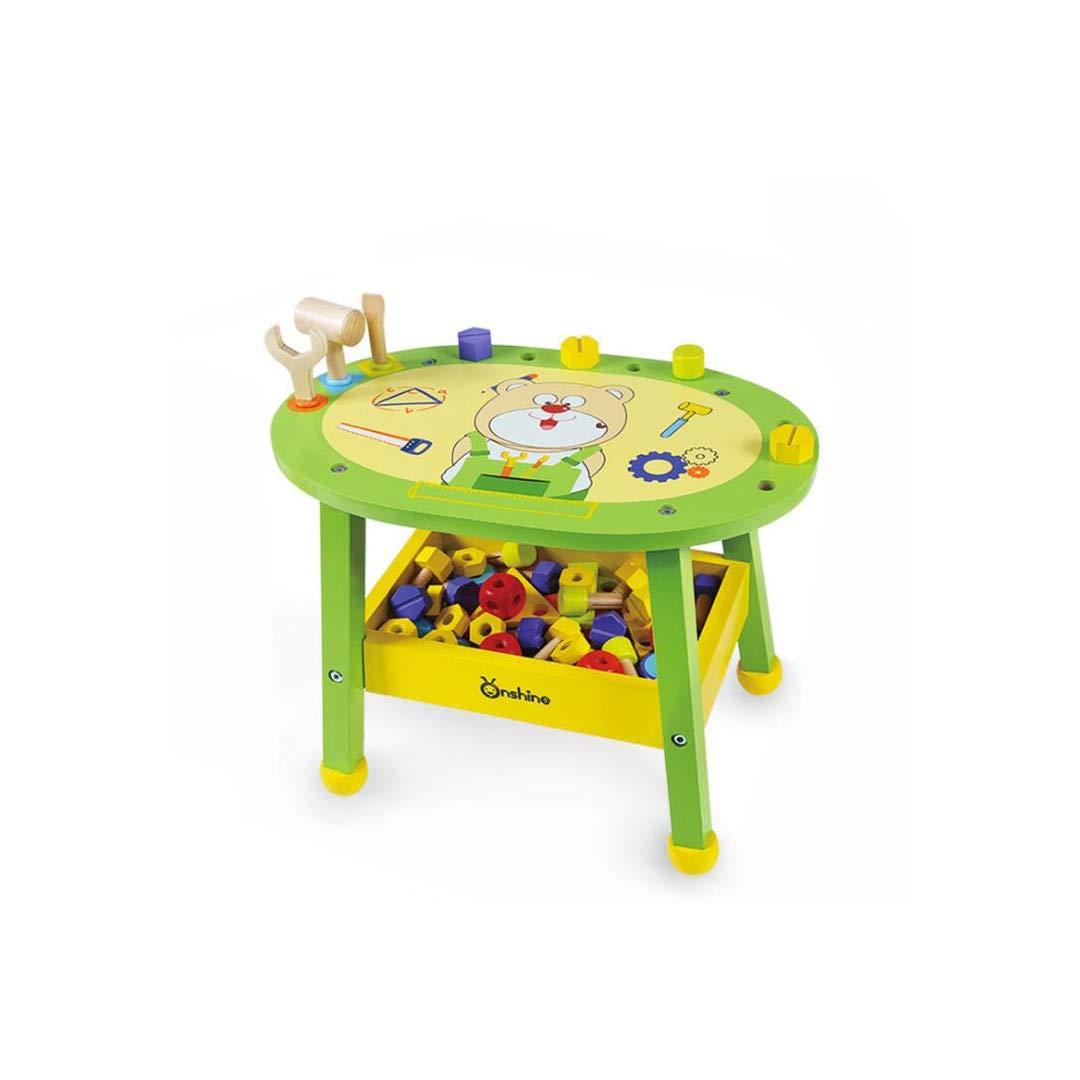 QARYYQ 子供用 シミュレーション木製修理ツールキット 男の子 パズル プレイハウス ナット 組み立てブロック 組み立ておもちゃ 42x26x31.5cm おもちゃ   B07MD7FVDY
