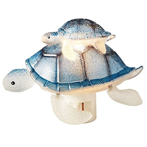 Sea Turtle Mom with Baby Night Light, Swivel Plug