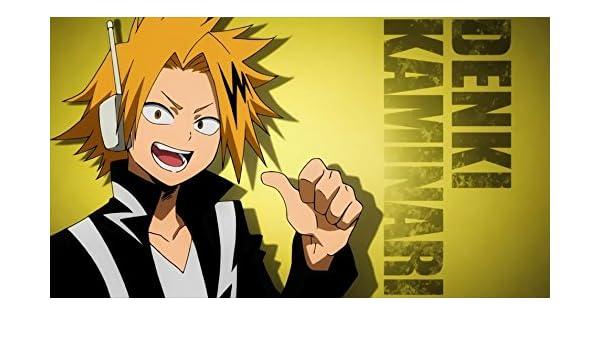 Amazon.com: XXW Artwork My Hero Academia Kaminari Denki Poster Discharging/Lightning/My Hero Academia Season 3 Prints Wall Decor Wallpaper: Home & Kitchen